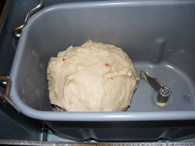 onion bun dough