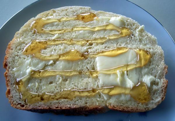 Pepper Pear Bread Slice