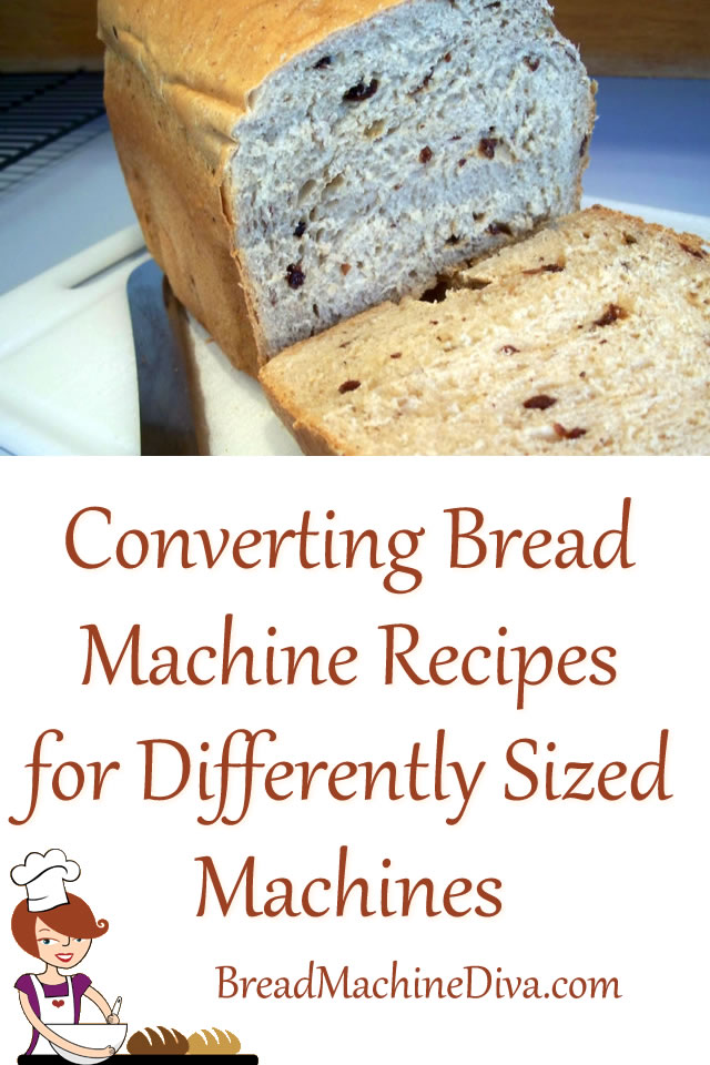 Converting Bread Machine Recipes for Differently Sized Machines
