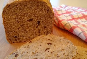 Raisin Bread Made with Delay Start Timer