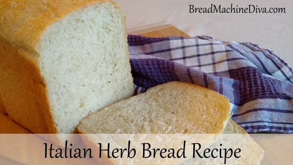 bread machine italian herb bread