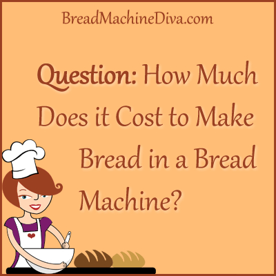 cost of bread in a bread machine