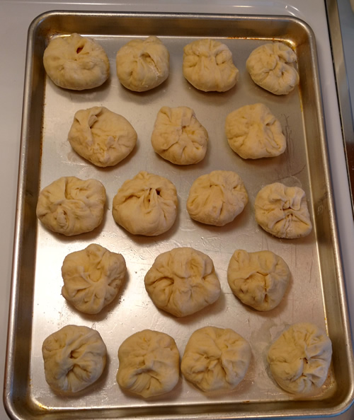 Rolls ready for oven