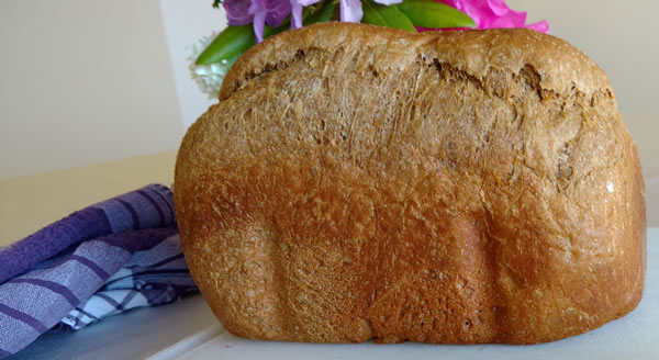 Loaf of Anadama Bread