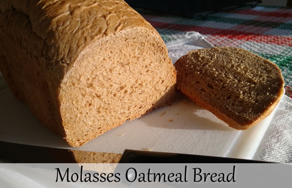 Molasses Oatmeal Bread Recipe | Bread