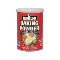 Rumford Baking Powder 8.1oz, NON-GMO, Gluten Free, Vegan, Vegetarian, Double Acting Baking Powder in a Resealable Can with Easy Measure Lid, Kosher, Halal