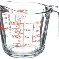 Anchor Hocking Glass Open Handle Measuring Cup, 16 oz