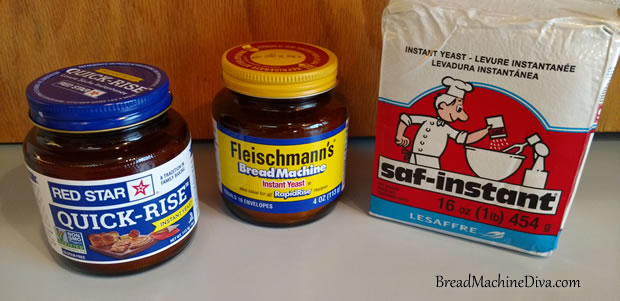 Different kinds of yeast